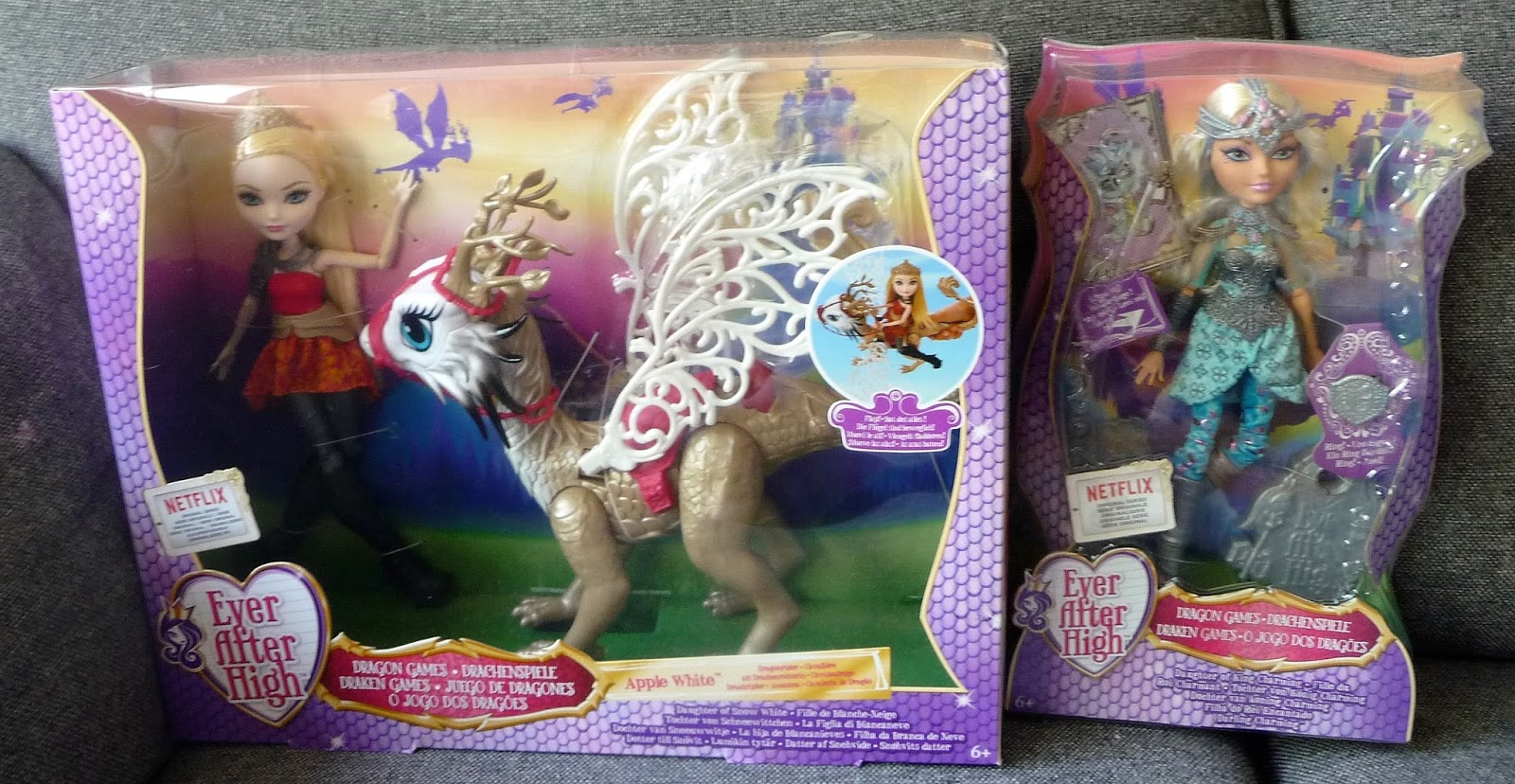 EVER AFTER HIGH DOLL DRAGON GAMES APPLE WHITE HEAD ONLY FOR REPLACEMENT OR OOAK
