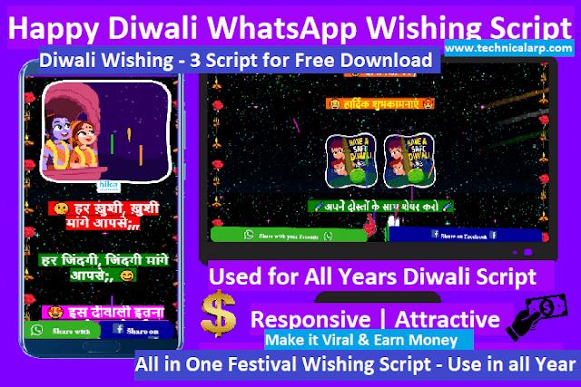 All festival wishing Script free download Diwali Script
