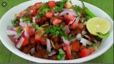 chane ki chaat recipe (काले चने की चाट रेसिपी )