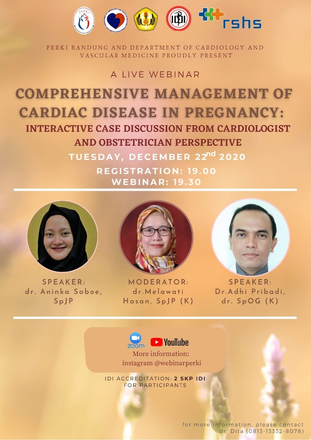 Webinar Comprehensive Management of Cardiac Disease in Pregnancy: Interactive Case Discussion from Cardiologist and Obstetrician Perspective