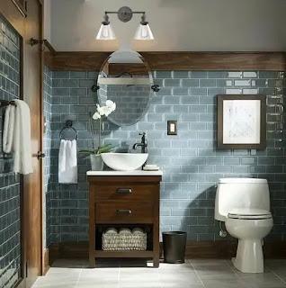 ديكورات حمامات صغيرة جدا مودرن جميل جدا