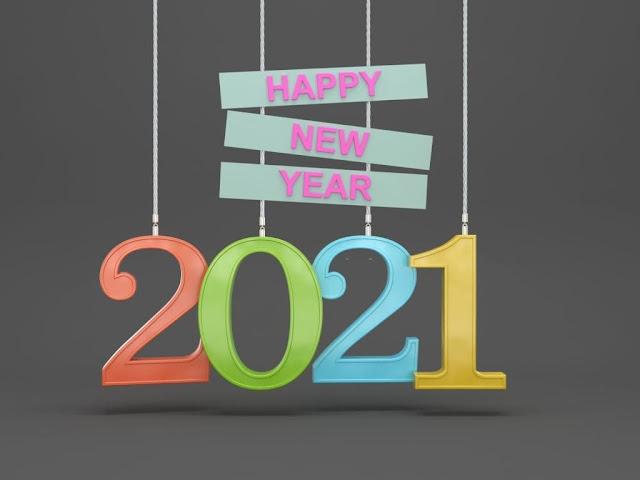Stylish Happy New Year 2020 HD Wallpaper