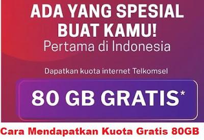 Untuk dapat tersambung dengan internet tentunya perangkat yang digunakan untuk mengakses  Cara Mendapatkan Kuota Gratis 80GB Paket Internet Telkomsel Gratis