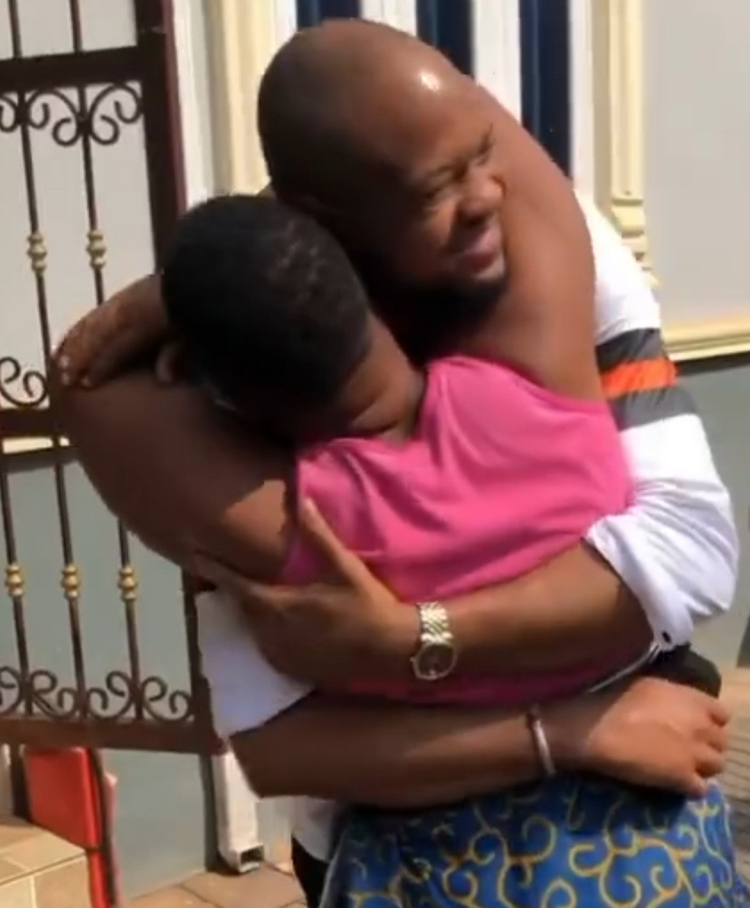 Watch heart melting video where son surprises his mother with a visit after 13 years in the US (video)