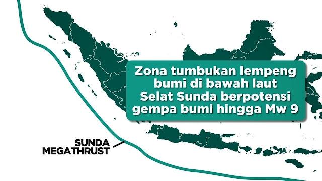 Selain Anak Krakatau, Megathrust Juga Ancaman Tsunami di Selat Sunda