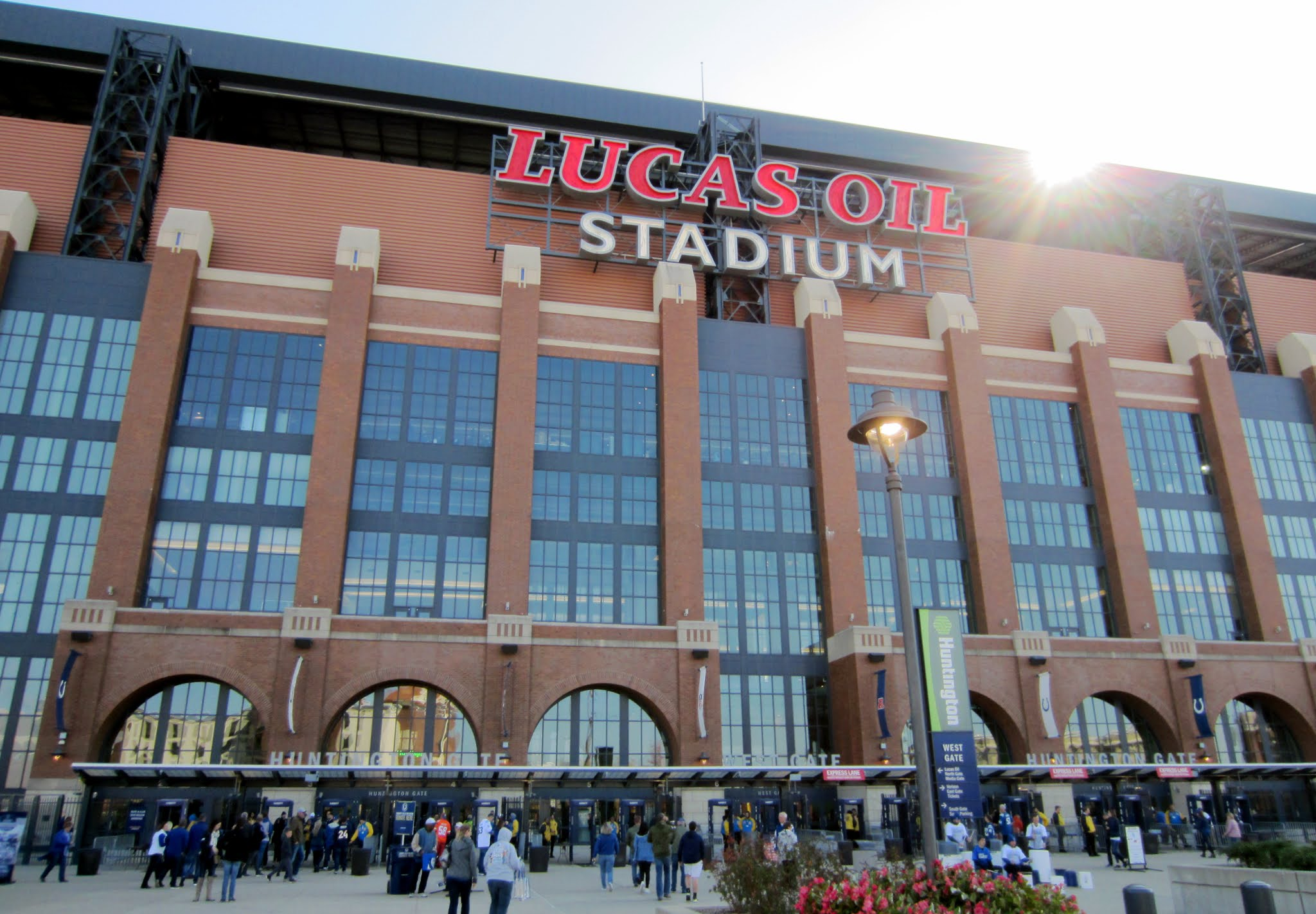 Outside Lucas Oil Stadium before the Colts vs. Broncos game