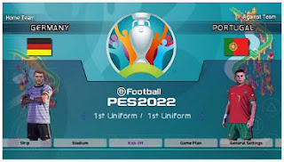 Download PES 2022 PPSSPP EURO 2020 Fix Callname Peter Drury Commentary & Promotion Team Update
