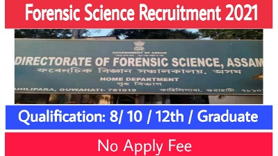Forensic Science Recruitment 2021 – 7 Grade III & Grade IV Vacancy