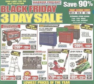 Black Friday Ad Harbor Freight Tools 2019 offers
