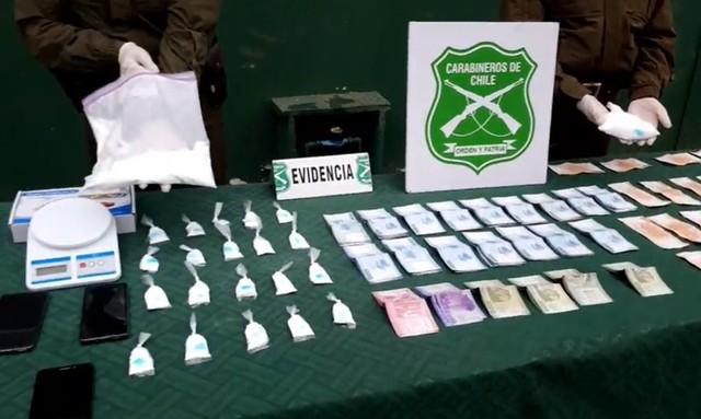 Osorno: Carabineros detiene a 3 sujetos e incauta 1300 dosis de droga
