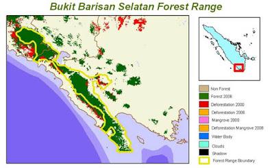 Peta Bukit Barisan Selatan
