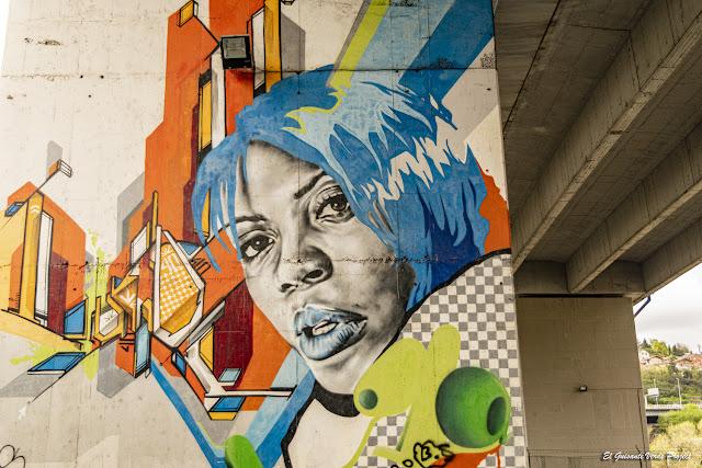 Mural Zorroza A8 - Bilbao, por El Guisante Verde Project