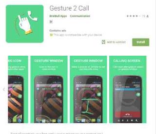 Install aplikasi Gesture 2 Call