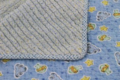 blue homemade blanket