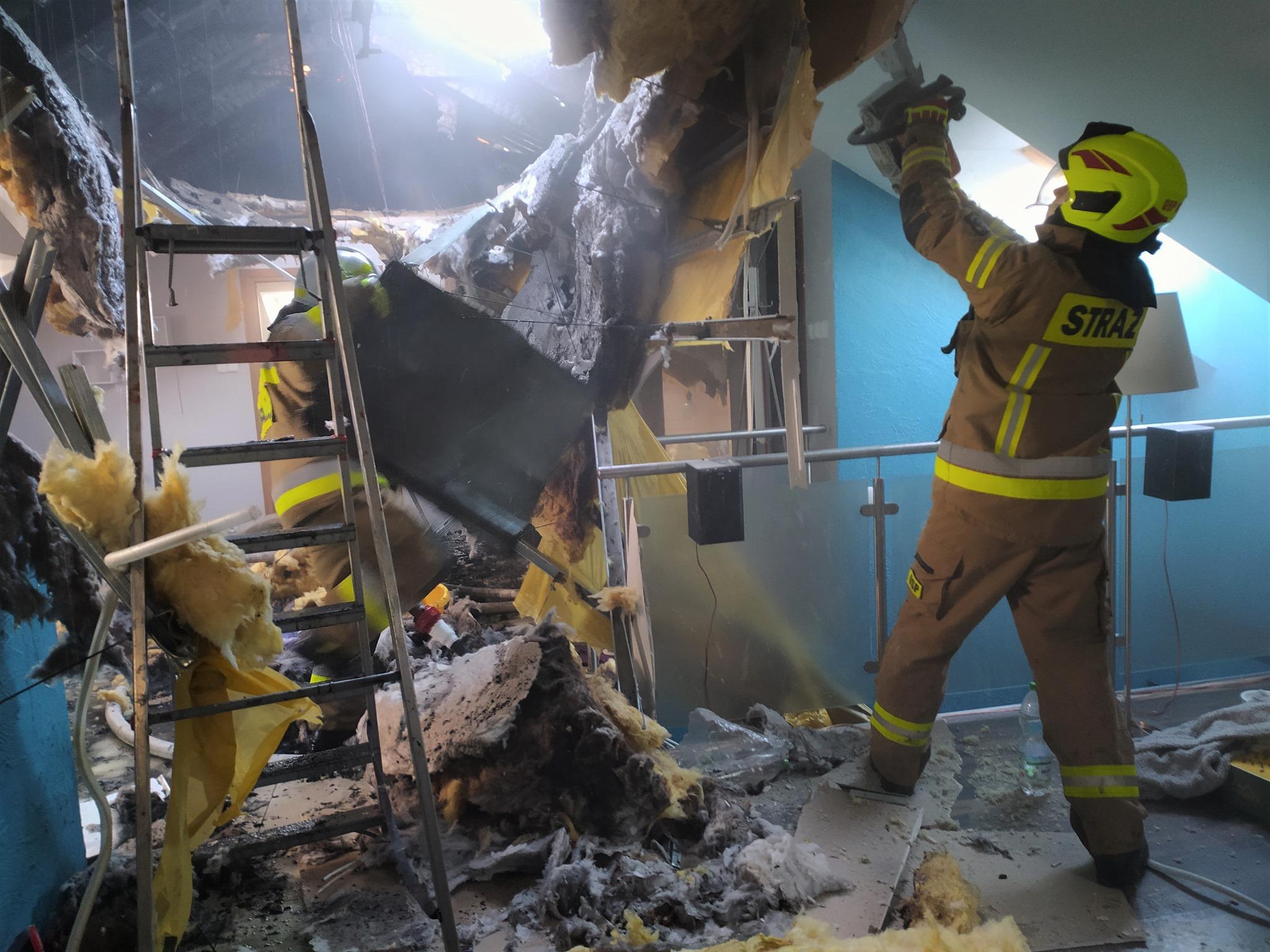 Pożar domu w Kolbuszowej Górnej [ZDJĘCIA]