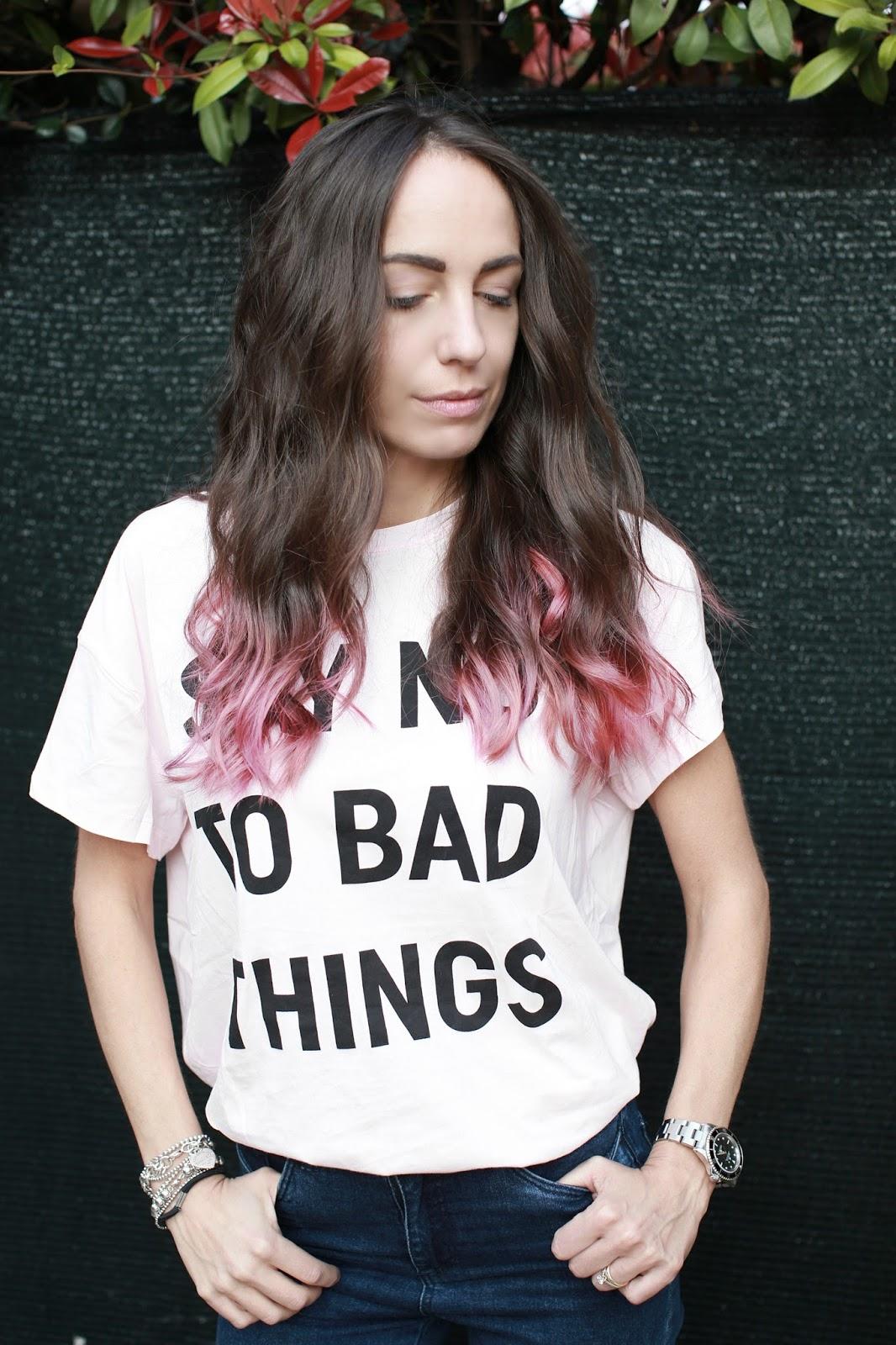 capelli punte rosa