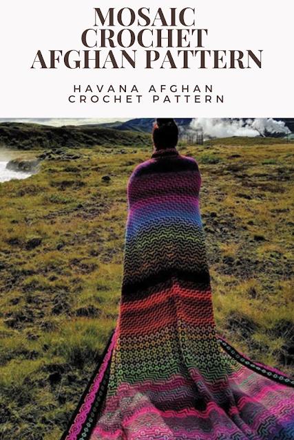 Crochet a Mosaic Afghan Pattern
