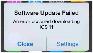 After the update of the iOS software has failed