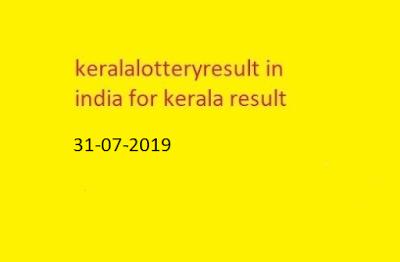 nirmal lottery sthree sakthi lottery result 2019-07-31