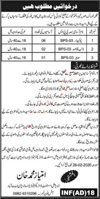 Food Department Jobs 2020