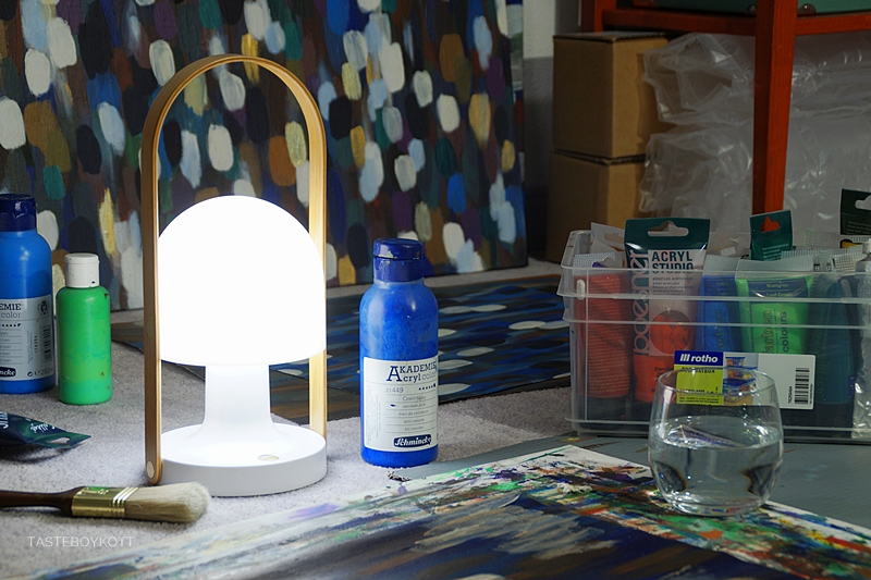 Late Night Painting with my FollowMe lamp by Marset | Tasteboykott