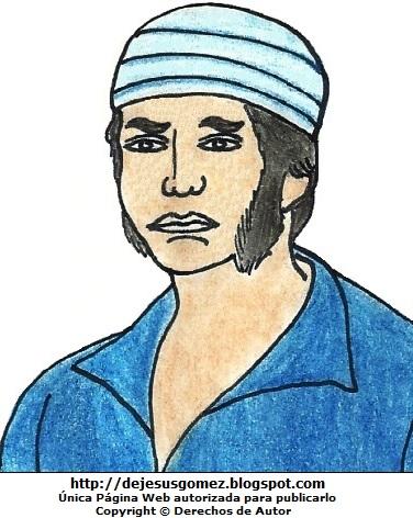 Imagen de José Olaya pintado a colores para niños. Dibujo de José Olaya de Jesus Gómez