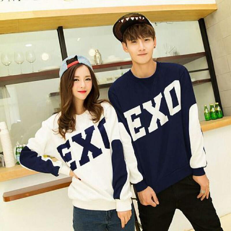 Jual Couple Lengan Panjang LP Exo Combi Navy - 24305