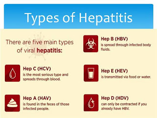 Types of hepatitis: -