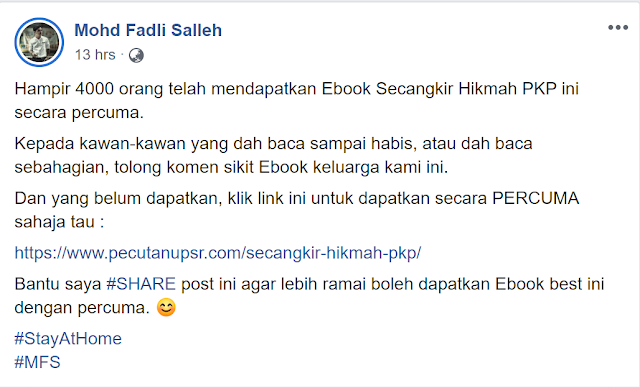 Secangkir Hikmah PKP (Mohd Fadli Salleh)