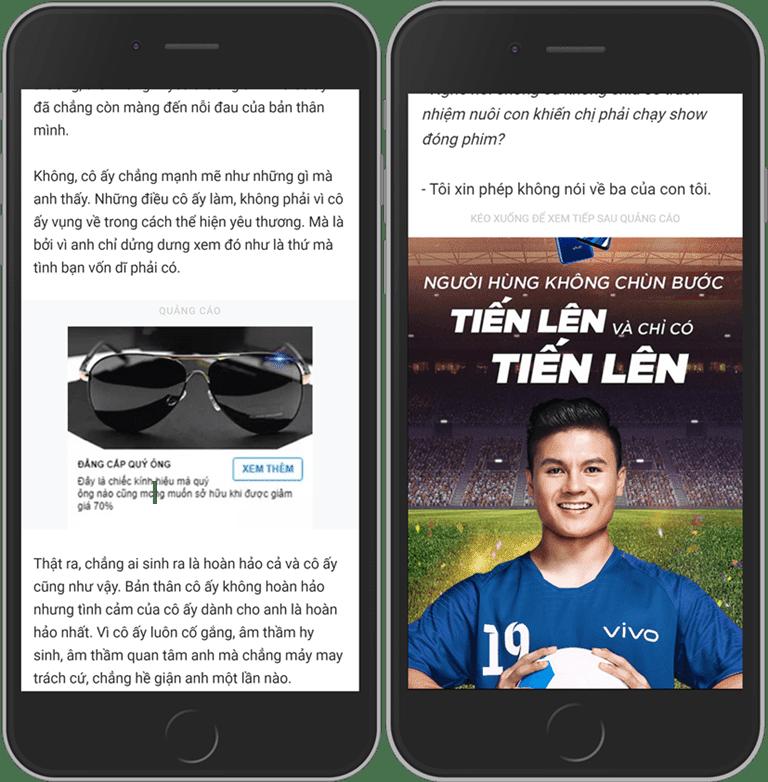 Chèn quảng cáo tự động trong bài viết blogspot hiển thị trên mobile