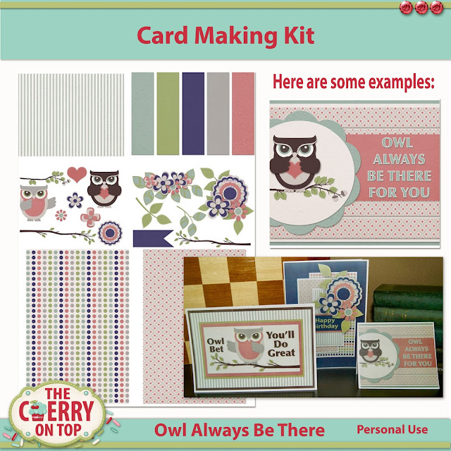 Owl Always Be There card Making kit
