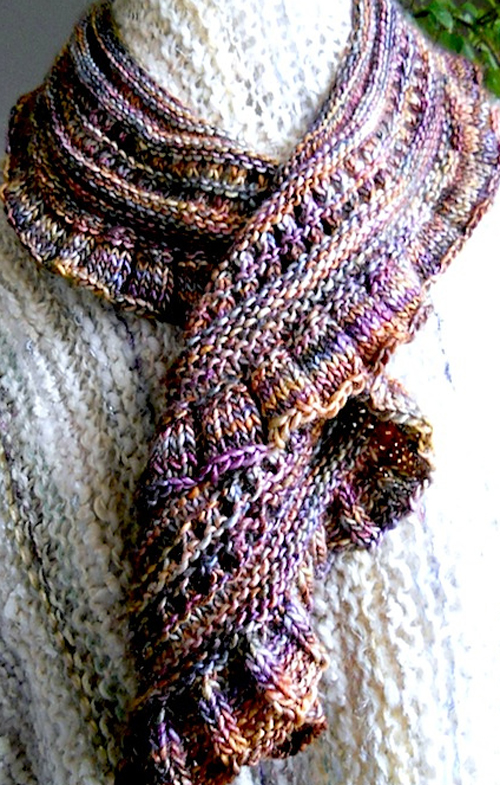 Cascading Scarf in Piedras - Free Pattern
