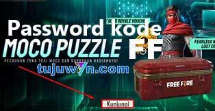 Cara menyelesaikan dan menemukan password moco puzzle