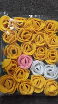 motif kerajinan bunga kain flanel
