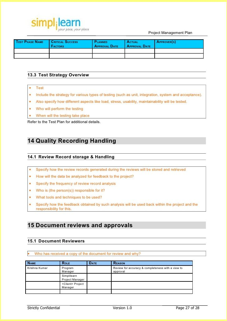 ... Project Plan Template Pmi By Project Management Plan Template Resume  Business Template ...