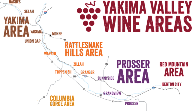 Yakima Valley wine country in Washington