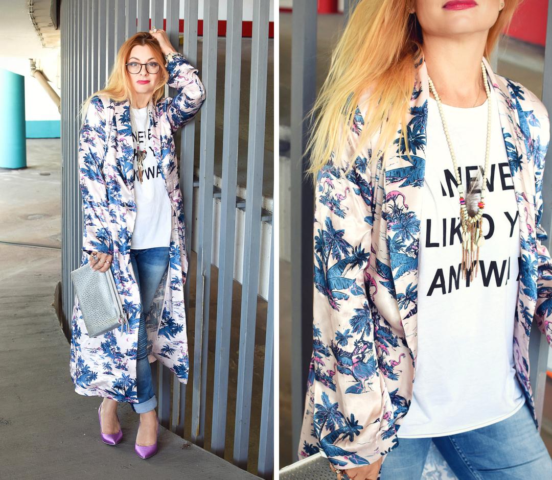 wie style ich einen Kimono, Trend Mantel Kimono