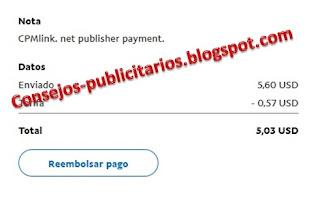 Pago CPMLink Paypal