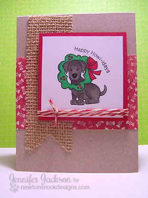 Dog Christmas card for Newton's Nook Designs Inky Paws Challenge #5
