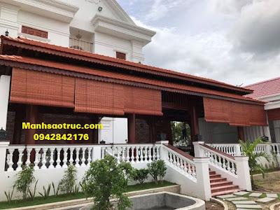 Mành tre trúc chống nắng cho nhà gỗ