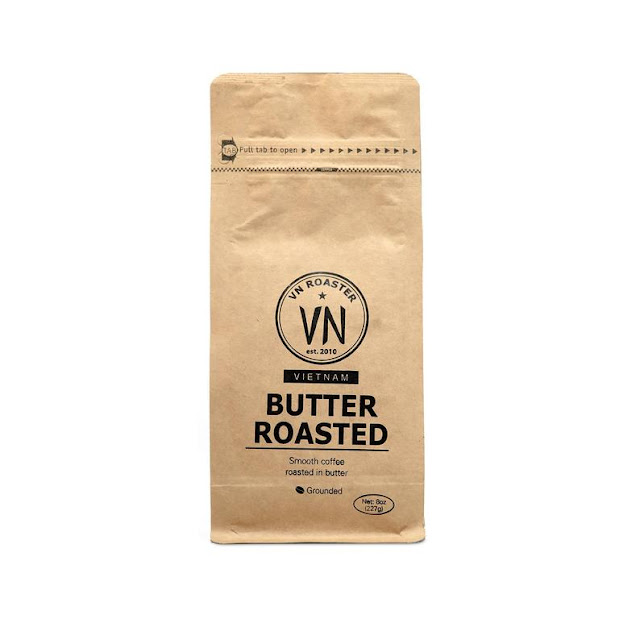 A brown bag of Butter Roasted Vietnamese Coffee