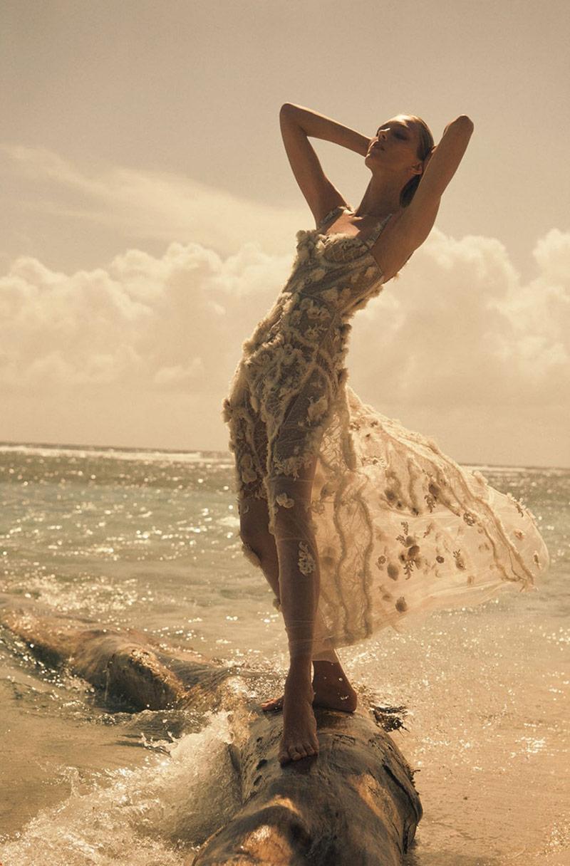 Fashion Editorial: Anja Rubik by Lachlan Bailey for Vogue Paris April 2018