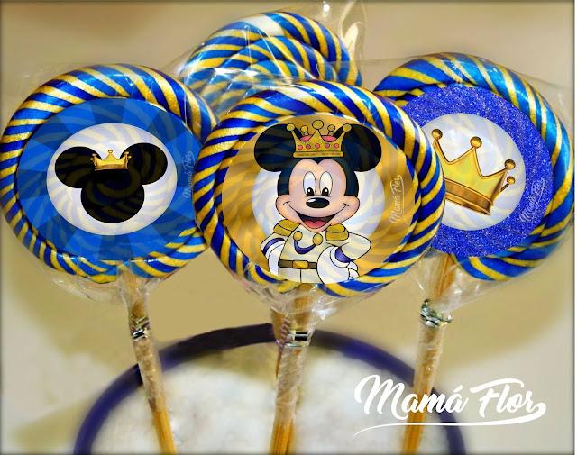 Paletas de Caramelo de Mickey Mouse Príncipe