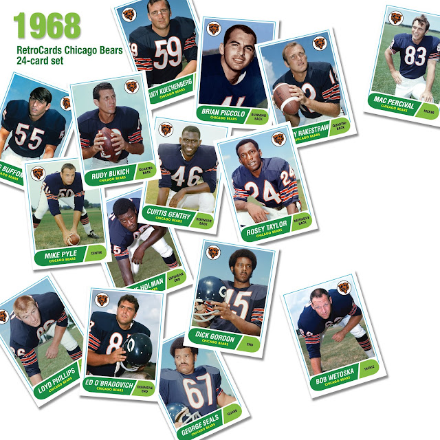 Topps 1968 football cards