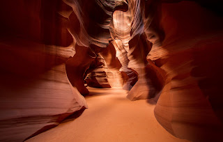 Upper Antelope Canyon photographed with 10.5mm lens, corrected in Adobe Lightroom 4.
