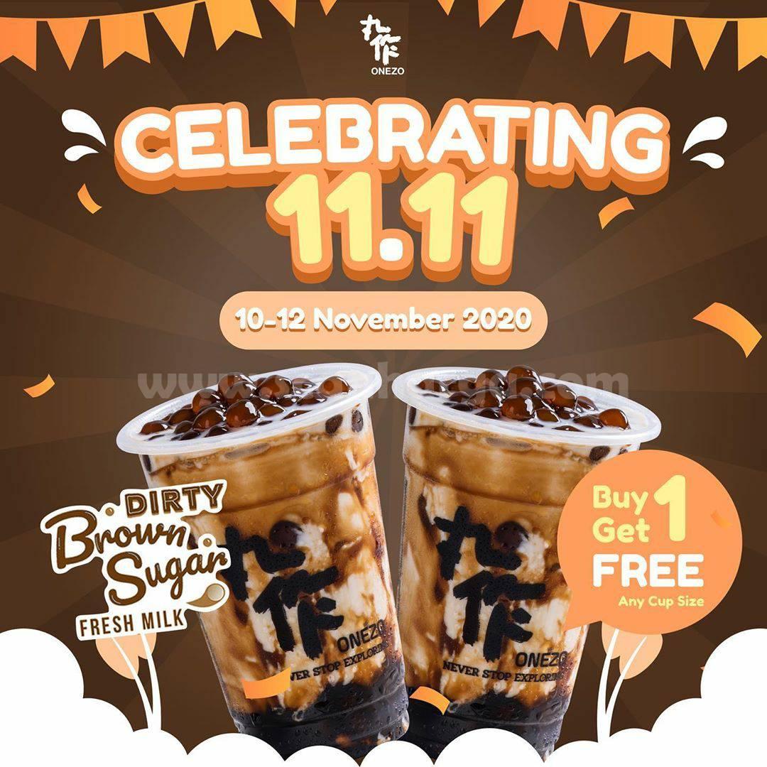 Promo ONEZO Beli 1 Gratis 1 to menu Dirty Brown Sugar Fresh Milk