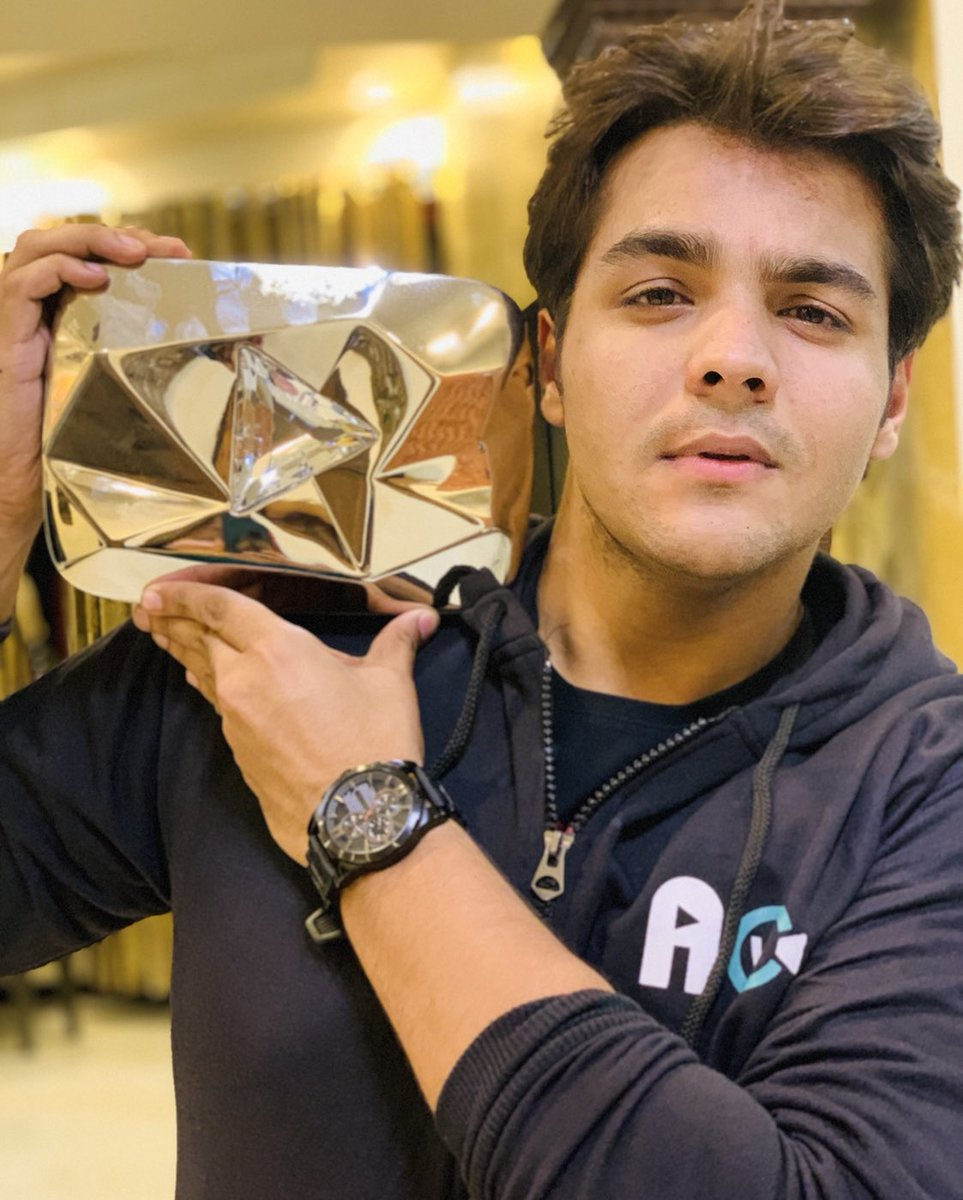 Ashish Chanchlani with youtube gold button