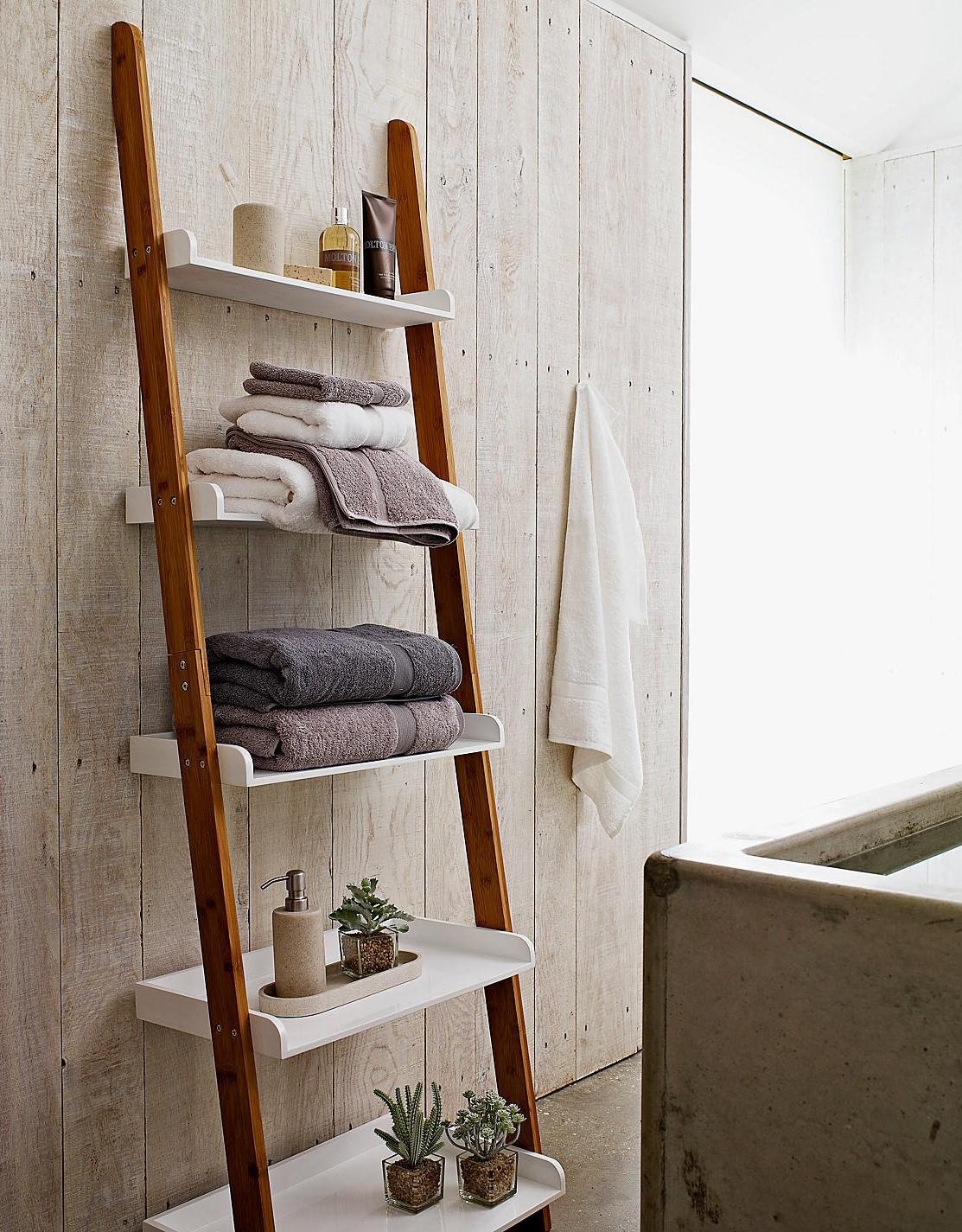 Attirant Bathroom Shelf Design Shaped Staircase