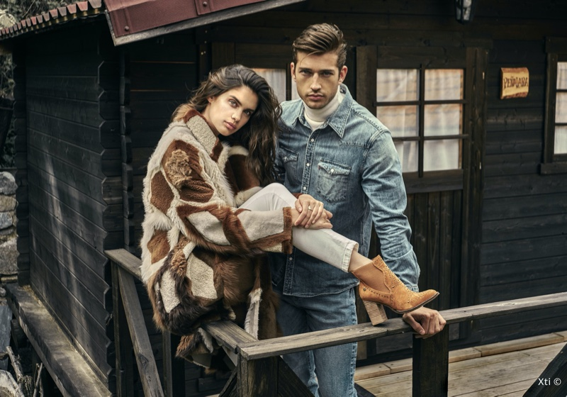 Sara Sampaio and Ben Bowers front XTI Shoes fall-winter 2019 campaign