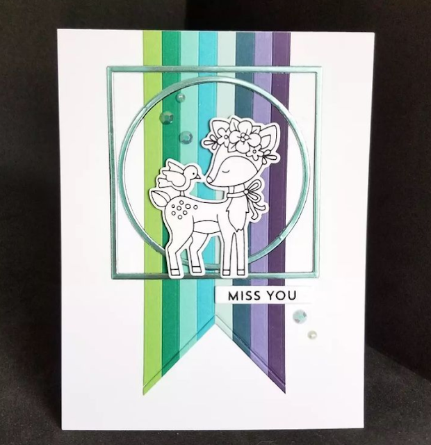 Miss you by Karen features Woodland Spring by Netwon's Nook Designs; #inkypaws, #newtonsnook, #cardmaking